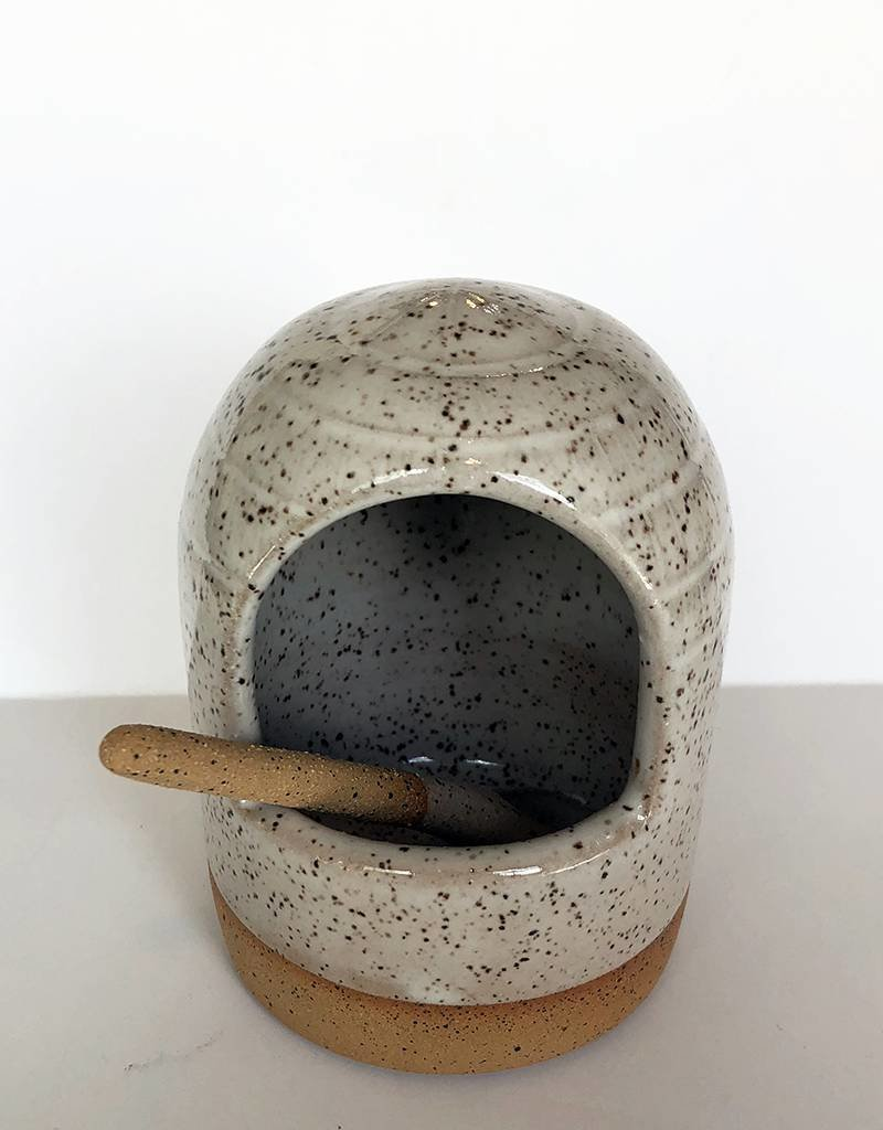 Gopi Shah Ceramics Salt Celler-Grey Brown