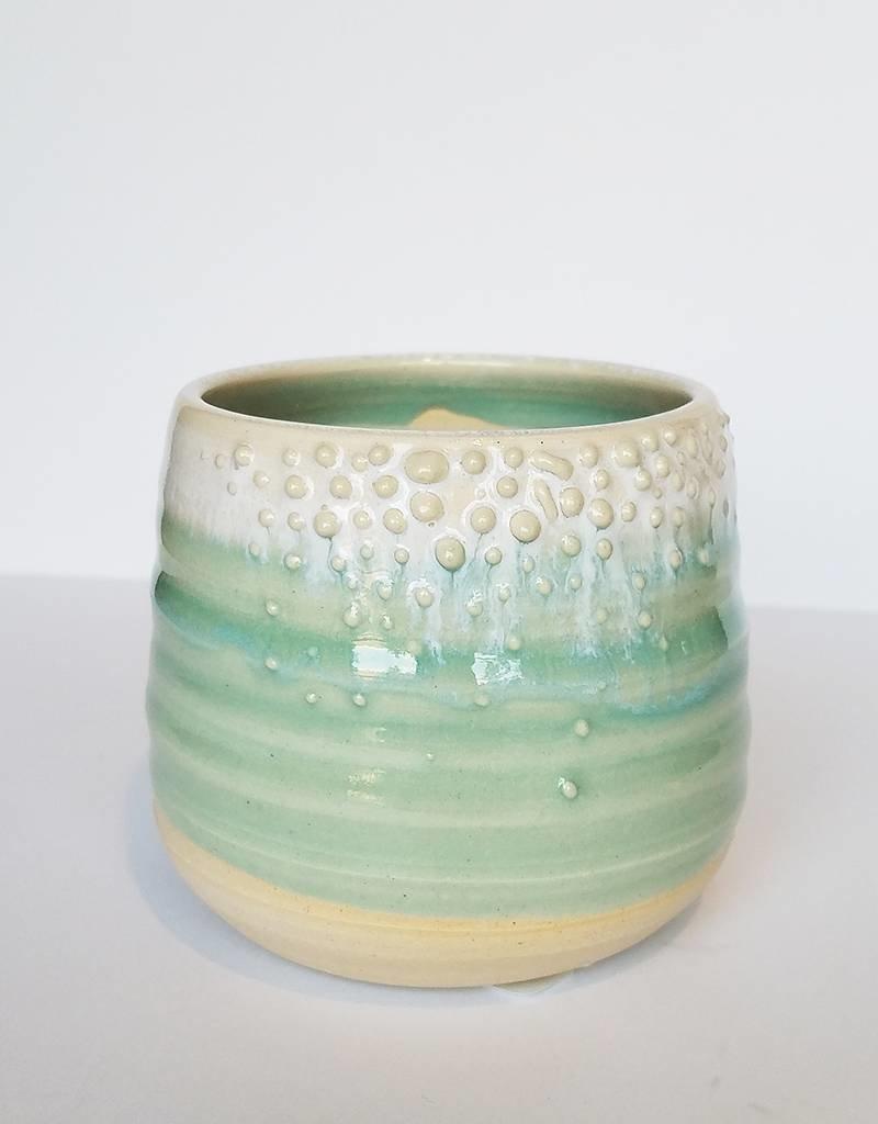 Unurth Ceramics Barnacle Planter Babe-White Mint