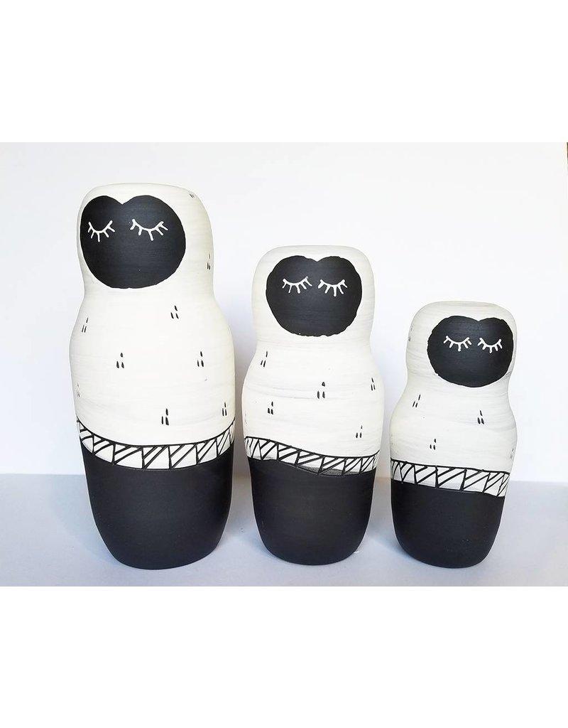 Gopi Shah Ceramics Clay Person-White Cloak
