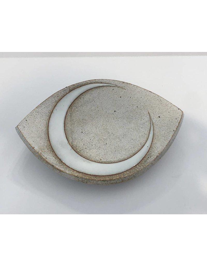 MQuan Studio Medium Eye Slab Dish-Crescent Glaze