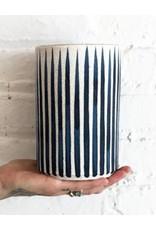 MQuan Studio SM Vase-Stripes Indigo