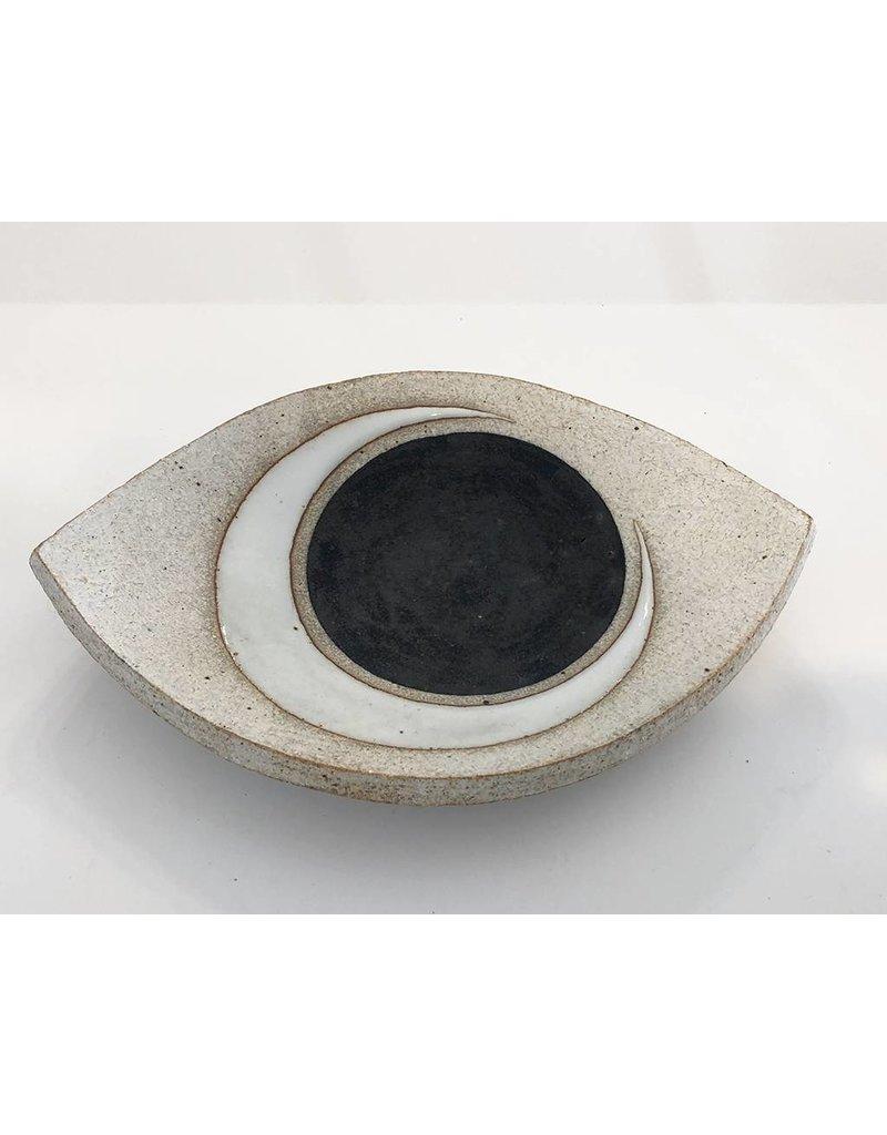 MQuan Studio Medium Eye Slab Dish-Crescent Indigo