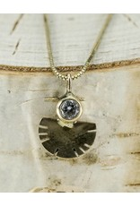 """Young In The Mountains Aquila Necklace 14kG .03ct Diamond 18"""" Chain"""