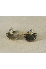 Young In The Mountains Aquila Stud Earrings 14k Gold .03ct Diamonds