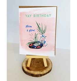 "Ferme A Papier Birthday ""yay"" Airplant Card"