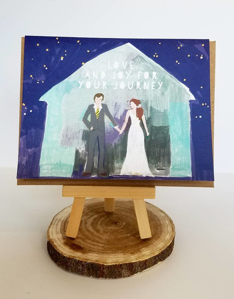 Ferme A Papier Barn Couple Wedding Card