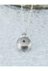 Judi Powers Jewelry Pebble Necklace-Pink Sapphire