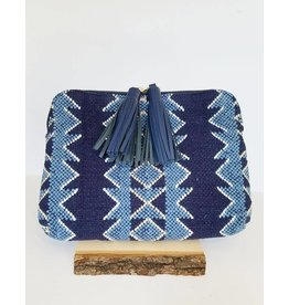 Bloom & Give Kavya Clutch-Indigo Blue
