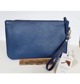 Bloom & Give Terra Wristlet Clutch-Blue