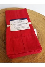 Bloom & Give Picot Handloomed Napkins-set of 4 Red