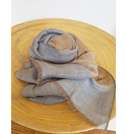 Bloom & Give Goa Blue Linen Scarf