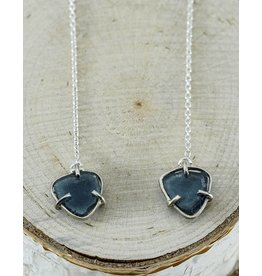 Nichole Shepherd Jewelry Blue Tourmaline chain Earrings