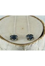 Nichole Shepherd Jewelry Blue Tourmaline chain Earrings
