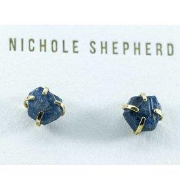 Nichole Shepherd Jewelry Rough Sapphires 18KY Prong Studs