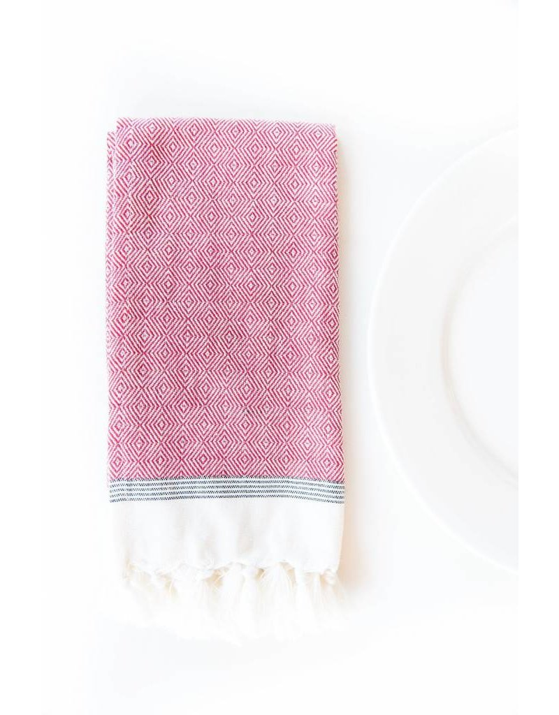 Bloom & Give Milan Napkins-set of 4 Burgundy