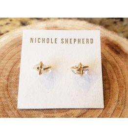 Nichole Shepherd Jewelry 18K Herkimer Diamond Studs