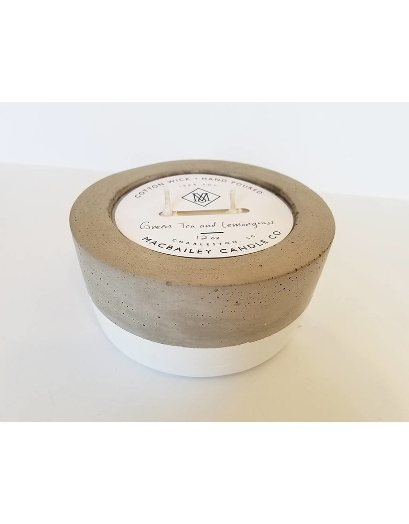 MACBAILEY CANDLE CO. Green Tea & Lemongrass-12oz