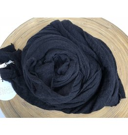 Scarf Shop Wool Scarf- Black