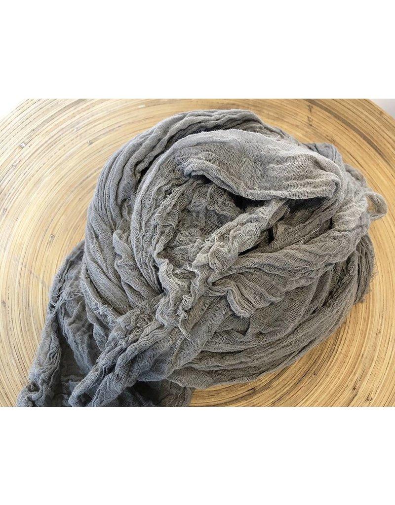 Scarf Shop Fine Organic Cotton Scarf- Smoke