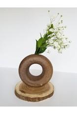 Lucy Michel Mini Loop Vase Brown