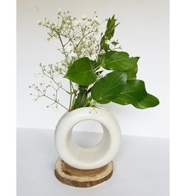 Lucy Michel Small Loop Vase White