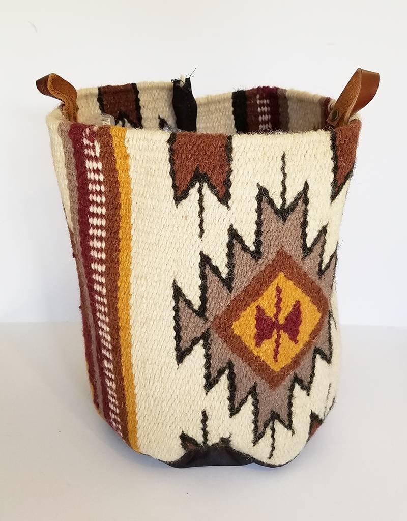 Appetite Shop Large Woven Bucket-Amarillo