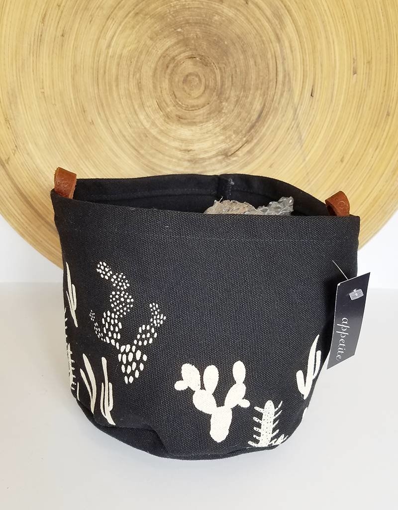 Appetite Shop Large Fabric Bucket-Cactus on Black