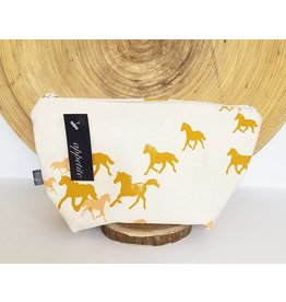 Appetite Shop Medium Cosmetic Pouch Horse Print