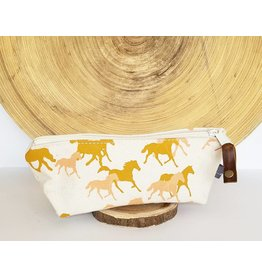 Appetite Shop Small Cosmetic Pouch Horse Print