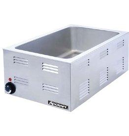 """Adcraft Food Warmer, Countertop 12""""x20"""" 6-1/2 Deep, 120V"""