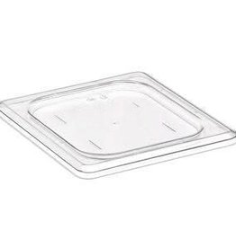 Cambro Camwear Cambro  60CWC Clear Pan Cover 1/6 Size Flat/ Solid