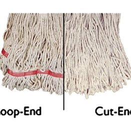 "Update Update MOP#24LE Loop-End Mop Head - 16"" x 6"" Polyester/Cotton"