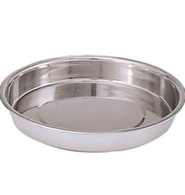 "Adcraft Cake / Pie Pan, 9-3/4"" x 1-1/2"" deep S/S"