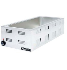 "Adcraft Food Warmer, Counter top 12""x27"" 6-1/2 Deep, 120V hold 4/3"