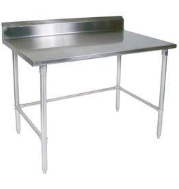 "John Boos & Co ST6R5-3060SBK Work Table, 60""W x 30""D, w/ 5"" backsplash 16/300 S/S ST6R5-3060SBK"