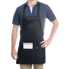 """Chef Revival Front of the house bib Apron 27"""" x 25"""" (3) compartment black"""