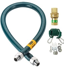 "Krowne Krowne Gas Hose Quick Disconnect, 3/4"" x 48"" Green"