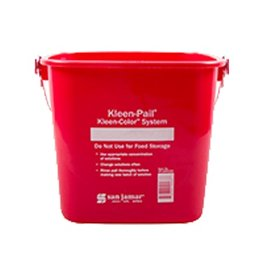 San Jamar, Inc San Jamar KP320RD Kleen-Pail 10 qt, Sanitizing Red
