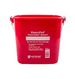San Jamar, Inc San Jamar KP196RD Kleen-Pail 6 qt, Sanitizing Red