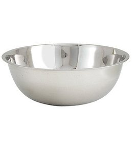 """Winco Mixing Bowl, 20 quart, 18-5/8"""" dia. x 5-1/2""""H, stainless steel"""