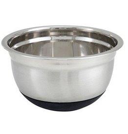 "Winco Winco MXRU-300 Mixing Bowl, 3 quart, 8-1/2"" dia. x 4-3/8""H, with black non-slip"