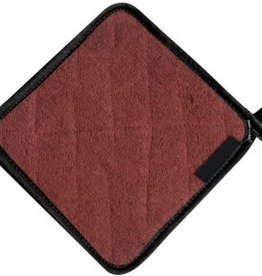 "San Jamar, Inc Pot Holder, 8"" x 8"", protects up to 500°F, institutional grade terry cloth, brown"