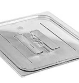 Cambro Cambro 60CWCH135 Camwear 1/6 Size Clear Polycarbonate Handle Lid