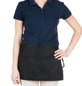 """Chef Revival Waist Apron 24"""" x 12"""" (3) pocket, poly-cotton blend black"""