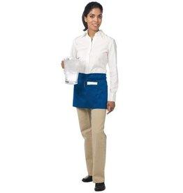 """Chef Revival Waist Apron 24"""" x 12"""" (3) pocket, poly-cotton blend blue"""