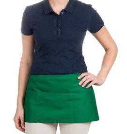 "Chef Revival Waist Apron 24"" x 12"" (3) pocket, poly-cotton blend kelly green"