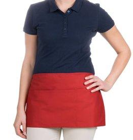 "Chef Revival Waist Apron 24"" x 12"" (3) pocket, poly-cotton blend red"