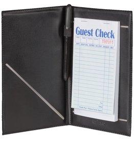 Winco Guest Order Holder with Elastic Pen Loop Black