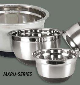 "Winco Winco MXRU-800 Mixing Bowl, 8 quart, 11-3/4"" dia. x 6-1/2""H, with black non-slip silicon base"