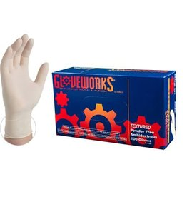 Ammex Corp. Ammex Glovework TLF Ivory Latex Industrial Powder-Free Disposable Gloves Medium